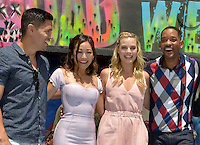 MIAMI, FL - JULY 25: Jay Hernandez, Karen Fukuhara, Margot Robbie, Will Smith and Commissioner Frank Corollo attends the 'Suicide Squad' Wynwood Block Party and Mural Reveal with cast on July 25, 2016 in Miami, Florida.  Credit: MPI10 / MediaPunch