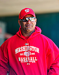4 March 2010: Washington Nationals' staff trainer Jose Martinez stands in the dugout prior to the Nationals-Astros Grapefruit League Opening game at Osceola County Stadium in Kissimmee, Florida. The Astros defeated the Nationals split-squad 15-5 in Spring Training action. Mandatory Credit: Ed Wolfstein Photo