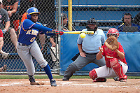 SAN ANTONIO, TX - APRIL 30, 2009: The University of the Incarnate Word Cardinals vs. The St. Mary's University Rattlers Softball on Day 1 of the Heartland Conference Softball Tournament at Rattler Field. (Photo by Jeff Huehn)
