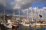 Santa Cruz de Tenerife, Santa Cruz harbour Marina,boats,yachts. German cruise ship Europa in the background.