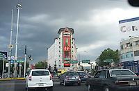 Traffic on Circuito, Mexico City