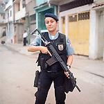 Patrol officer Luciana Montanari, 32.<br /> Rapid Response Team Officer<br /> Pacifying Police Unit<br /> Complexo do Caju, Rio de Janeiro, Brazil