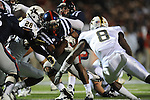 Ole Miss running back Jeff Scott (3) picks up a first down vs. Vanderbilt at Vaught-Hemingway Stadium in Oxford, Miss. on Saturday, November 10, 2012. (AP Photo/Oxford Eagle, Bruce Newman)