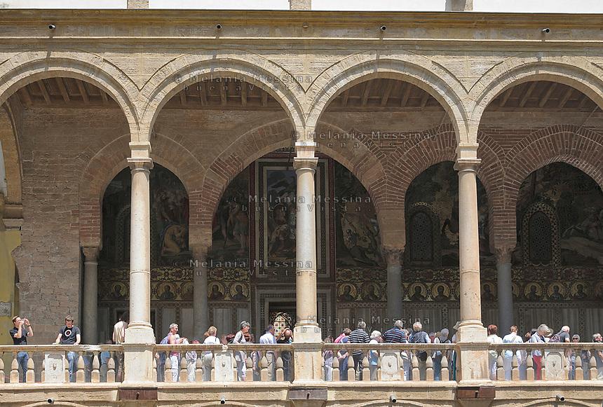 Palermo,Palazzo dei Normanni sede del parlamento regionale siciliano.<br /> Palermo,Palazzo dei Normanni, the historic building hosting the Sicilian Parliament.