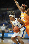 UK guard Bria Goss blocks the ball from Tennessee forward/center Bashaara Graves during the second half of the UK Hoops vs. Tennessee at Memorial Coliseum in Lexington, Ky., on Sunday, March 3, 2013. Photo by Emily Wuetcher | Staff....