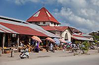 Zanzibar, Tanzania.  Darajani Market, Stone Town.
