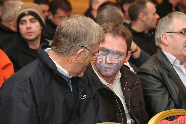 SIPTU members working at Tara Mines in Co Meath hold a meeting in the Ardboyne Hotel to discuss renewed fears about possible job losses at the mine...Photo NEWSFILE/Jenny Matthews.(Photo credit should read Jenny Matthews/NEWSFILE)....This Picture has been sent you under the condtions enclosed by:.Newsfile Ltd..The Studio,.Millmount Abbey,.Drogheda,.Co Meath..Ireland..Tel: +353(0)41-9871240.Fax: +353(0)41-9871260.GSM: +353(0)86-2500958.email: pictures@newsfile.ie.www.newsfile.ie.FTP: 193.120.102.198.
