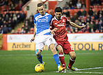 Aberdeen v St Johnstone&hellip;10.12.16     Pittodrie    SPFL<br />Steven MacLean and Anthony O&rsquo;Connor<br />Picture by Graeme Hart.<br />Copyright Perthshire Picture Agency<br />Tel: 01738 623350  Mobile: 07990 594431