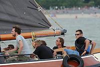 ZEILEN: LEMMER: Lemster baai, 31-07-2014, SKS skûtsjesilen, skûtsje Klaas van der Meulen, Woudsend, Teake Klaas van der Meulen, ©foto Martin de Jong