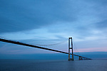 Great Belt Bridge, Storebæltsforbindelsen,  in Denmark, connecting the islands of Zealand and Funen.