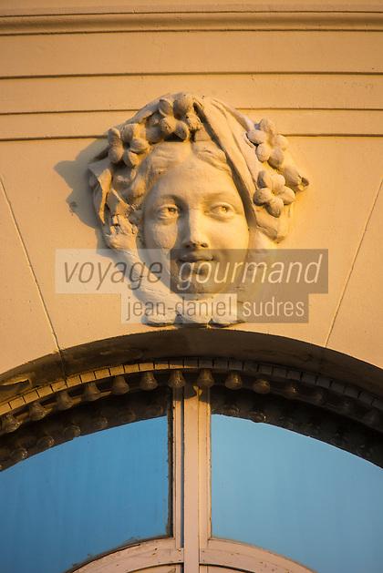 France, Calvados (14), Côte Fleurie, Deauville, Casino de Deauville , détail// France, Calvados, Cote Fleurie, Deauville,   The Casino detail