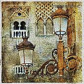 Isabella, MODERN, MODERNO, paintings+++++,ITKE046610-K,#n# venetian,old city,lanterns