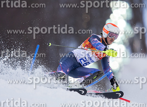 14.02.2014, Rosa Khutor Alpine Center, Krasnaya Polyana, RUS, Sochi 2014, Super- Kombination, Herren, Slalom, im Bild Krystof Kryzl (CZE) // Krystof Kryzl of Czech Republic in action during the Slalom of the mens Super Combined of the Olympic Winter Games 'Sochi 2014' at the Rosa Khutor Alpine Center in Krasnaya Polyana, Russia on 2014/02/14. EXPA Pictures © 2014, PhotoCredit: EXPA/ Johann Groder