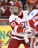 Danny O'Regan (BU - 10) - The visiting Northeastern University Huskies defeated the Boston University Terriers 6-5 on Friday, January 18, 2013, at Agganis Arena in Boston, Massachusetts.