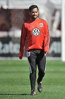 Carlos Ruiz (20) of D.C. United during pre-game warmups. The Columbus Crew defeated D.C. United 2-1 ,at RFK Stadium, Saturday March 23,2013.