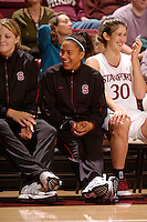 2 November 2006: Stanford Cardinal Rosalyn Gold-Onwude with Jayne Appel and Brooke Smith during Stanford's 103-57 win against Chico State Wildcats at Maples Pavilion in Stanford, CA.