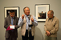 London, UK. 12.09.2012. EVERYTHING WAS MOVING, the changing world of the 60s and 70s captured by international photographers, opens in the Barbican art gallery. L to R: Li Zhengsheng's interpreter, Li Zhengsheng and David Goldblatt. Photo credit: Jane Hobson.