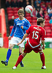 Aberdeen v St Johnstone... 23.07.11   SPL Week 1.Murray Davidson and Peter Pawlett.Picture by Graeme Hart..Copyright Perthshire Picture Agency.Tel: 01738 623350  Mobile: 07990 594431