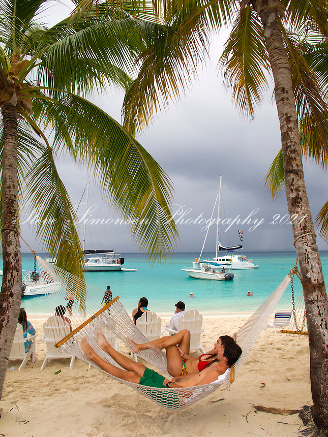 Couple in a hammock at Sandcastle<br />