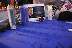 Yankees Fans Pay Tribute to George Steinbrenner at Yankee Stadium on July 13, 2010 in the Bronx, NY