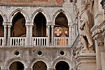 A statue in the courtyard of the Doge's Palace in Venice, Italy
