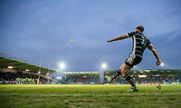 Picture by Allan McKenzie/SWpix.com - 11/05/2017 - Rugby League - Ladbrokes Challenge Cup - Featherstone Rovers v Halifax RLFC - The LD Nutrition Stadium, Featherstone, England  - Featherstone's Corey Aston kicks a conversion.