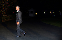 United States President Barack Obama returns to the White House on October 28, 2016 in Washington, DC. Obama traveled to Florida in the afternoon to campaign for Democratic presidential candidate Hillary Clinton. <br /> Credit: Olivier Douliery / Pool via CNP /MediaPunch