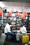 CAPE TOWN, SOUTH AFRICA - MARCH 22: Visitors at the Book Lounge on March 22, 2012 in Cape Town, South Africa (Photo by Per-Anders Pettersson)