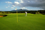 Sports: Golf: HI, Kauai, Princeville, model released, Hawaii.Photo Copyright: Lee Foster, lee@fostertravel.com, www.fostertravel.com,  (510) 549-2202.Image sports209