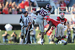 Ole Miss wide receiver Ja-Mes Logan (85) vs. Georgia free safety Bacarri Rambo (18) at Sanford Stadium in Athens, Ga. on Saturday, November 3, 2012.