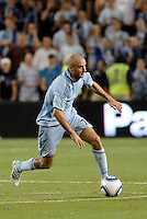 Aurelien Collin Sporting KC...Sporting KC were held to a scoreless tie with Chicago Fire in the inauguarl game at LIVESTRONG Sporting Park, Kansas City, Kansas.