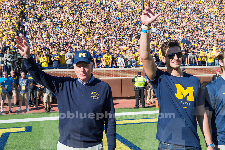 The University of Michigan Wolverines defeat the Penn State Nittany Lions, 49-10, at Michigan Stadium in Ann Arbor, MI on Sep. 24, 2016.