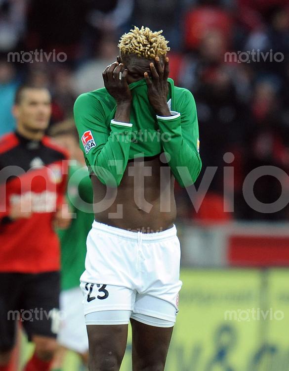 FUSSBALL  1. BUNDESLIGA   SAISON 2009/2010  18. SPIELTAG Bayer 04 Leverkusen - FSV Mainz 05                     16.10.2010   Aristide BANCE (Mainz) nach dem 3:1 enttaeuscht