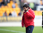St Johnstone v Dundee&hellip;11.03.17     SPFL    McDiarmid Park<br />Paul Hartley turns away from the game<br />Picture by Graeme Hart.<br />Copyright Perthshire Picture Agency<br />Tel: 01738 623350  Mobile: 07990 594431
