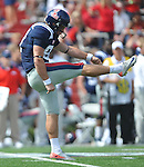 Ole Miss' Tyler Campbell (97) against Georgia at Vaught-Hemingway Stadium in Oxford, Miss. on Saturday, September 24, 2011. Georgia won 27-13.