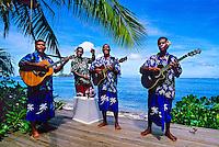 Staff members playing music, Tokoriki Island Resort, Mamunucas, Fiji Islands