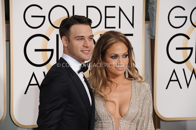 WWW.ACEPIXS.COM<br /> <br /> January 11 2015, LA<br /> <br /> Ryan Guzman and Jennifer Lopez arriving at the 72nd Annual Golden Globe Awards at The Beverly Hilton Hotel on January 11, 2015 in Beverly Hills, California. <br /> <br /> <br /> By Line: Peter West/ACE Pictures<br /> <br /> <br /> ACE Pictures, Inc.<br /> tel: 646 769 0430<br /> Email: info@acepixs.com<br /> www.acepixs.com