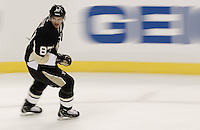 PITTSBURGH, PA - NOVEMBER 21:  Sidney Crosby #87 of the Pittsburgh Penguins takes the ice for warmups against the New York Islanders for the first time since sustaining a concussion on January 5 during the game on November 21, 2011 at CONSOL Energy Center in Pittsburgh, Pennsylvania.  (Photo by Jared Wickerham/Getty Images)