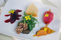 Summer Beets &amp; Chevre Plate, North Pond Restaurant, Chicago, Illinois, USA