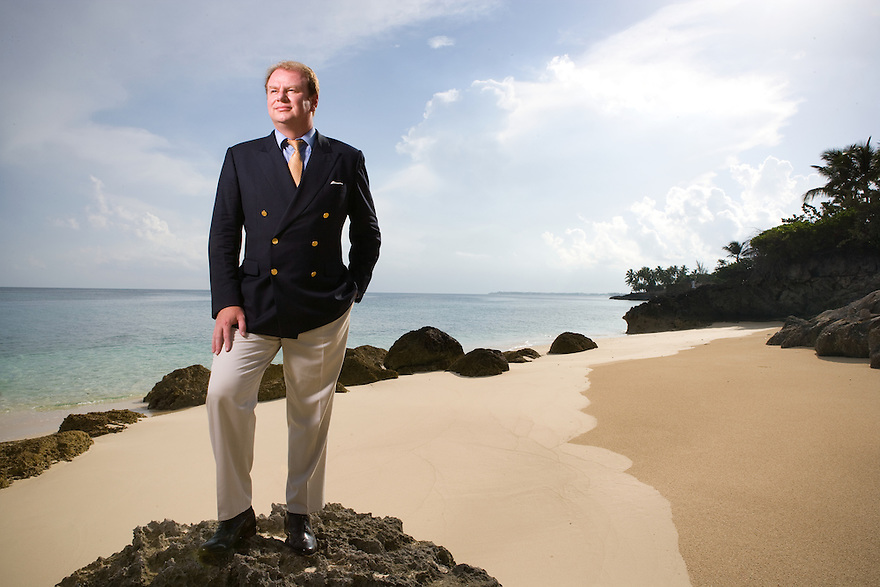 Viktor Kozeny photographed in Lyford Cay, Nassau, Bahamas on July 29, 2008 for Bloomberg Markets