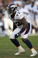 11/27/11 San Diego, CA: Denver Broncos defensive end Elvis Dumervil #92 during an NFL game played between the Denver Broncos and the San Diego Chargers at Qualcomm Stadium. The Broncos defeated the Chargers 16-13 in OT