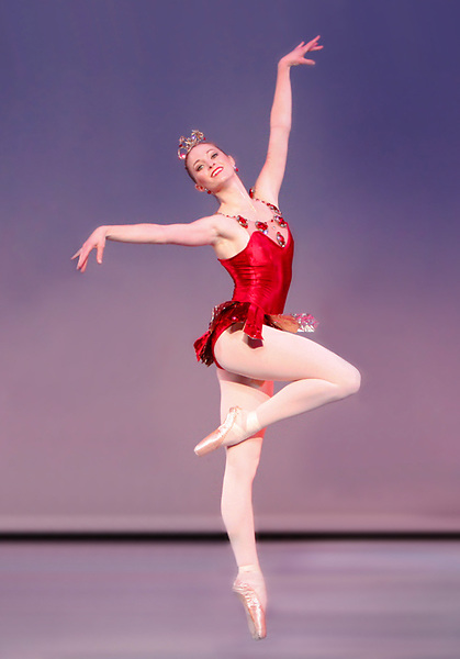Alissa Dale performs in Nevada Ballet Theatre's interpretation of 'Rubies' at the Artemus W. Ham Hall on the campus of UNLV.