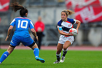 Lucy Nye of Great Britain  in action. FISU World University Championship Rugby Sevens Women's 5th/6th place match between Great Britain and Italy on July 9, 2016 at the Swansea University International Sports Village in Swansea, Wales. Photo by: Patrick Khachfe / Onside Images