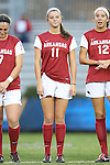 22 November 2013: Arkansas' Alexandra Fischer (11). The University of Arkansas Razorbacks played the Saint John's University Red Storm at Koskinen Stadium in Durham, NC in a 2013 NCAA Division I Women's Soccer Tournament Second Round match. Arkansas won the game 1-0.