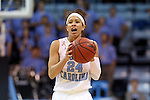 25 March 2014: North Carolina's Jessica Washington. The University of North Carolina Tar Heels played the Michigan State University Spartans in an NCAA Division I Women's Basketball Tournament First Round game at Cameron Indoor Stadium in Durham, North Carolina. UNC won the game 62-53.