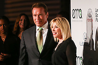 BURBANK, CA, USA - OCTOBER 18: Arnold Schwarzenegger, Debbie Levin arrive at the 2014 Environmental Media Awards held at Warner Bros. Studios on October 18, 2014 in Burbank, California, United States. (Photo by Xavier Collin/Celebrity Monitor)