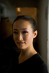 Portrait of a handicapped dancer at the China Disabled Peoples Art Troupe, Beijing.