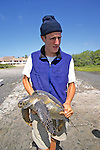 John Horan Holding Black Sea Turtle