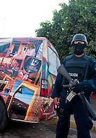 Police in the streets. Sinaloa, Mexico. Aromas y Sabores with Chef Patricia Quintana
