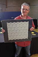 Ralf Konrad, Germany, origami designer, with a tessellation